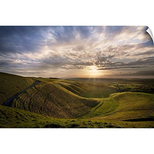 (CANVAS ON DEMAND Wall Peel Wall Art Print Entitled Manger, White Horse Hill, Uffington 24