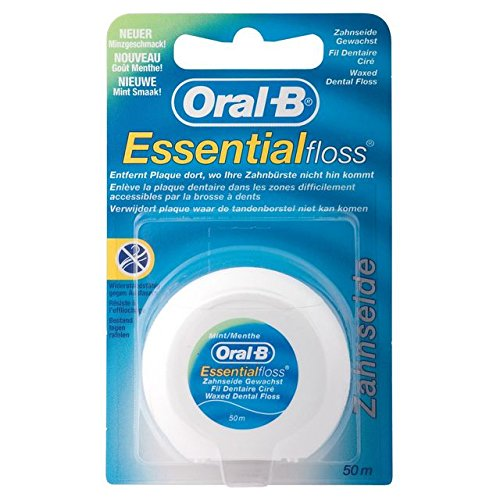 4 X 50M Floss Oral-B Essential Floss - Oral B Essential Floss Waxed