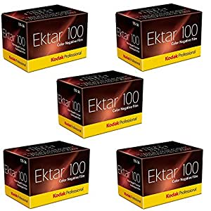 Kodak 35mm Ektar 100 Color Negative (Print) Film 36 Exp. lot of 5 Rolls ( Pack of 5)