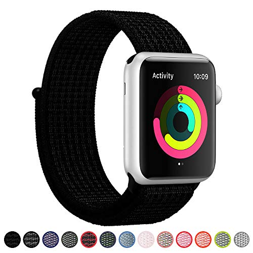 X Series Watch - SYRE Sport Band Compatible Apple Watch 38mm 42mm, Soft Lightweight Breathable Nylon Sport Loop Replacement Strap, Compatible iWatch Apple Watch Series 3, Series 2, Series 1