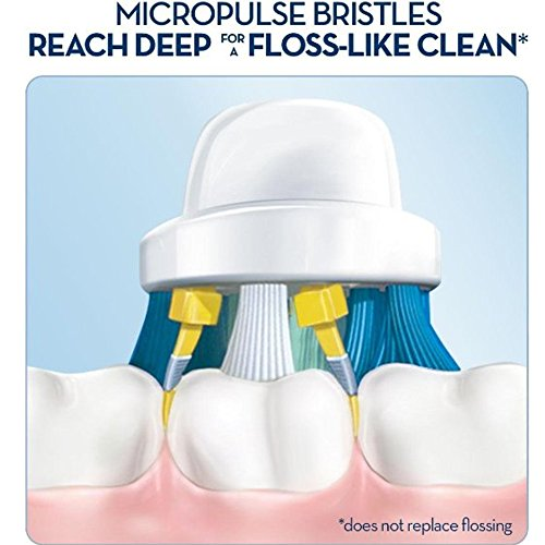 Oral B Braun Compatible Replacement Brush Heads - Pack Of 12 Electric Toothbrush Assorted Heads - Includes 4 Floss Action, 4 Pro White & 4 Cross, more.. - Try Them All You'll Find Your Favorite by Pearl Enterprises (Image #2)