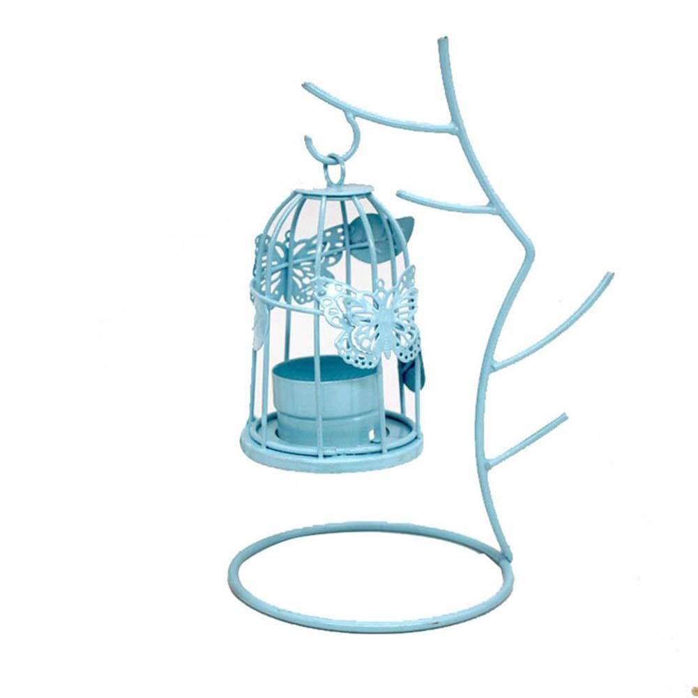 13.5cm Material Hierro MoGist Candeleros CandelabrosTwig candelabro de Hierro Forjado 1 PCS Rosa Tama/ño 20