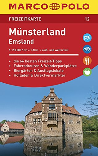 MARCO POLO Freizeitkarte Münsterland, Emsland 1:110 000 (Niederländisch) Landkarte – 2. Oktober 2015 MAIRDUMONT 3829743122 Emsland / Radwandern (Führer Karten)