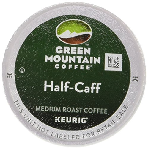 Coffee Beans Half Caff (Green Mountain Coffee Medium Roast K-Cup for Keurig Brewers, Half-Caff Coffee (Pack of 96))