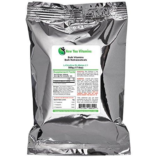 L-Citrulline DL-Malate 2:1 poudre de New vous vitamines en vrac 100 % pur en vrac L-Citrulline Malate de DL 2:1 poudre 1000g (1000 grammes) 35,2 oz (35,2 onces)