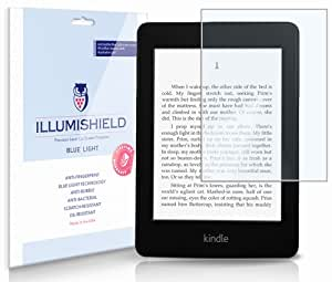 Amazon Kindle Paperwhite Screen Protector (2012,2013)[2-Pack](Wi-Fi), iLLumiShield - (HD) Blue Light UV Filter / Premium Clear Film / Anti-Fingerprint / Anti-Bubble Shield
