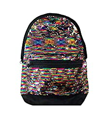 Pink Campus Backpack Multicolor Sequins