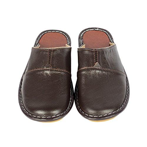 Haisum Sl-8808-m - Zapatillas de estar por casa de Piel Sintética para hombre marrón oscuro
