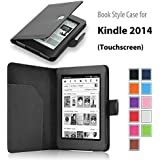 """Elsse For Kindle 7th Gen, 6"""" Glare-Free Touchscreen Display - Folio Case Cover for Kindle (7th Generation), Black - will not fit previous generation Kindle devices"""