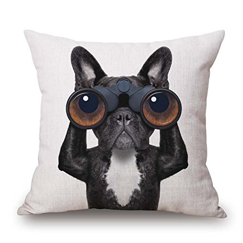 20 X 20 Inches / 50 By 50 Cm Dog Throw Cushion Covers 2 Sides Ornament And Gift To Sofa Pub Husband Bedroom Outdoor Drawing Room