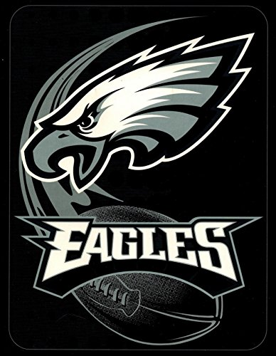 NFL Football Philadelphia Eagles Licensed High Pile Woven Twin Size Throw Blanket 60