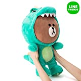 LINE FRIENDS Dino Brown Wannabe Sitting Doll Season1 One Size Green_Brown