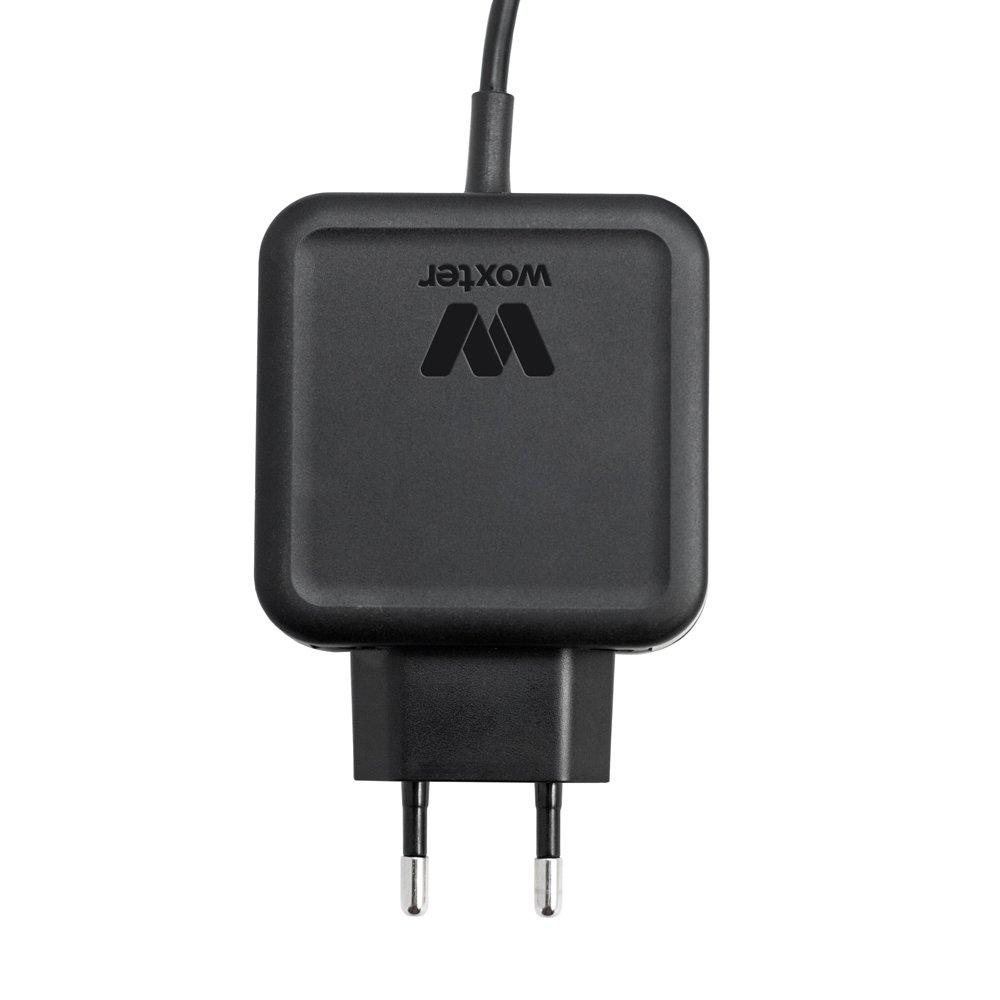 Woxter Adapter 65A Nano - Cargador Universal de portátil (65 W, Compatible con la mayoría de Portátiles del Mercado, 11 Puntas), Negro