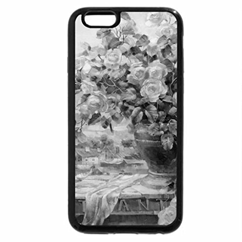 iPhone 6S Plus Case, iPhone 6 Plus Case (Black & White) - Pleasant Roses
