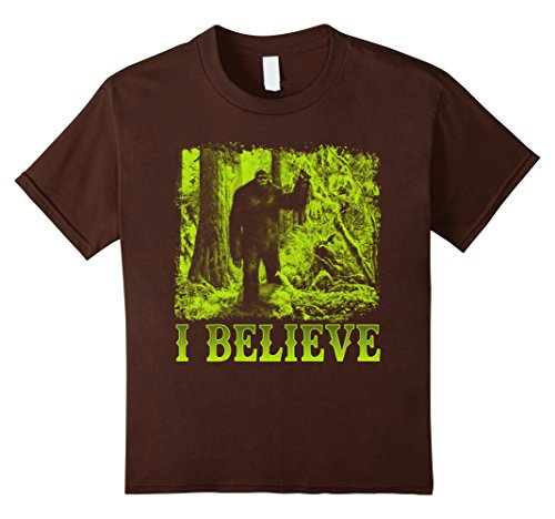 Kids I Believe In Bigfoot T-Shirt Bigfoot Believer Halloween Gift 10 Brown