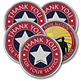 Thank You for Your Service - Military Coins - AttaCoin Veteran Gift Series (5 Pack)
