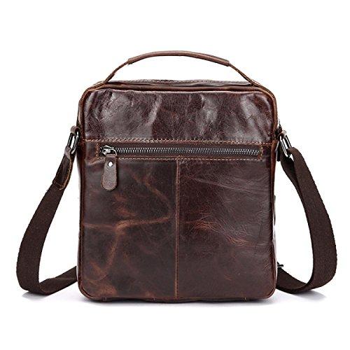 Shoulder Business Cross Men's Messenger body Retro Handbag Wax Coffeecolor Bag Oil wnq7gSX