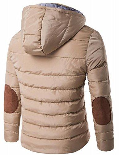 Trapuntata Giacca Impermeabile Mk988 Caldo Cappotto Capispalla Mens Kaki Inverno Color Con Cappuccio CqOT8wC