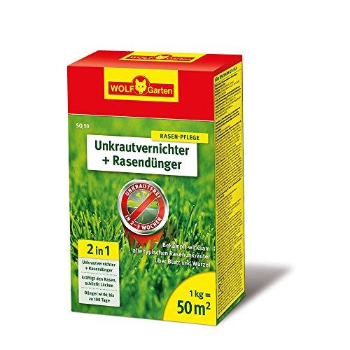WOLF-Garten 2-in-1: Unkrautvernichter plus Rasendünger SQ 50; 3840710