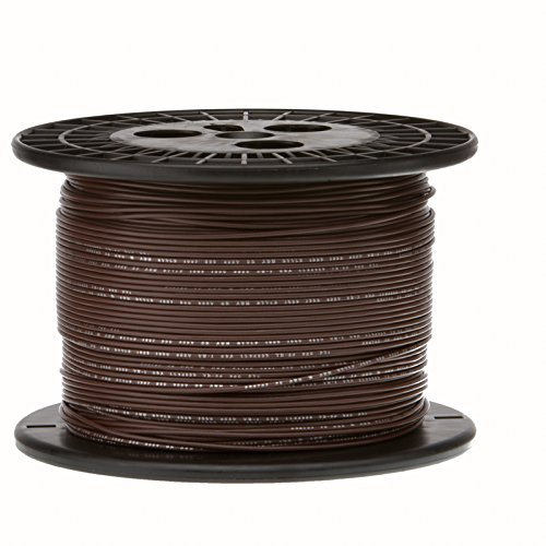16 AWG Gauge Stranded Hook Up Wire, 1000 ft Length, Brown, 0.0508'' Diameter, UL1015, 600 Volts by Remington Industries