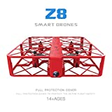 Fineser Z8 RC Mini UFO Quadcopter Drone 0.3MP Wifi 2.4G 4CH 6 Axis Headless Mode Remote Control Nano Quadcopter (Red)