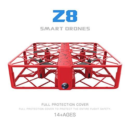 Fineser Z8 RC Mini UFO Quadcopter Drone 0.3MP Wifi 2.4G 4CH 6 Axis Headless Mode Remote Control Nano Quadcopter (Red) by Fineser