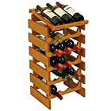 18-Bottles Wine Rack in Medium Oak