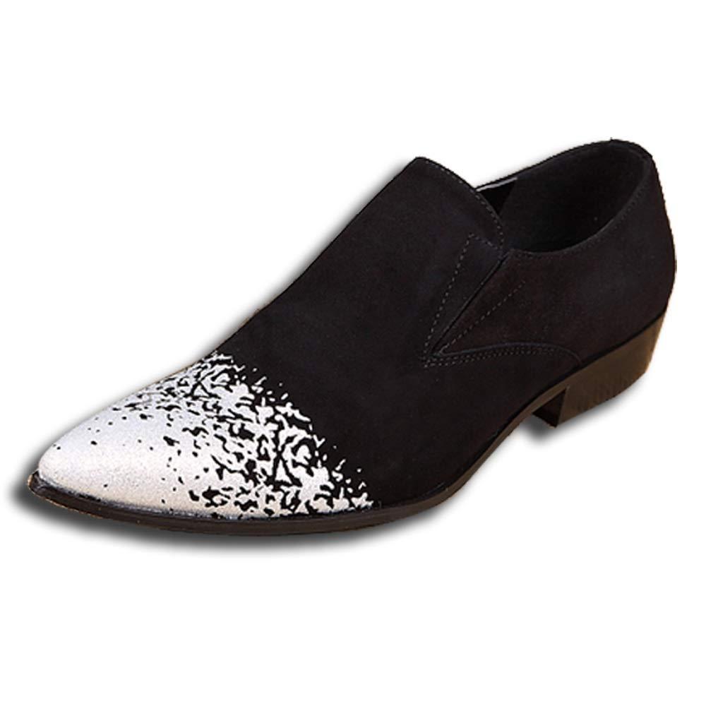 Rui Landed Oxford para Hombre Zapaños Formales Slip On Style OX Cuero Delicaño en Relieve Textura Moda en Punta del Dedo del pie Discoteca (Color   blanco, tamaño   45 EU) blanco