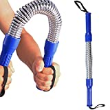 Onner Heavy Duty Power Flexible Stretch Spring Arm Fitness Bar Yoga home fitness equipment blue Arm strength rod 30KG