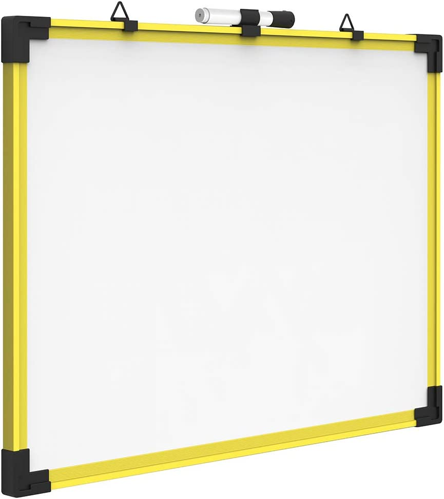 Quartet Industrial Magnetic Whiteboard, 24 x 18 Inches, Yellow Frame (724120)