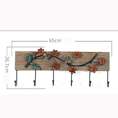 Amazon.com: Perchero de madera para el hogar, diseño retro ...