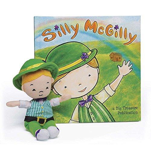 book & children's leprechaun toy (unpackaged), St. Patrick's Day Gift, Leprechaun Tricks, Irish children's book for home and classroom, Irish Family Fun ()