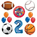 Mayflower Products The Ultimate Sports Theme 2nd Birthday Party Supplies And Balloon Decorating Kit