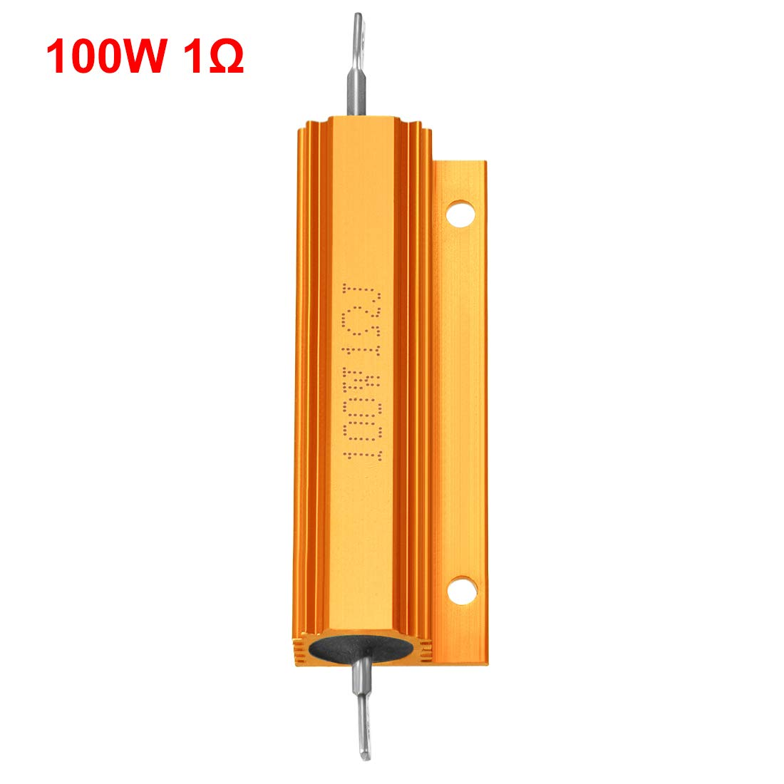 uxcell Aluminum Case Resistor 100W 15 Ohm Wirewound Yellow for LED Replacement Converter 100W 15RJ