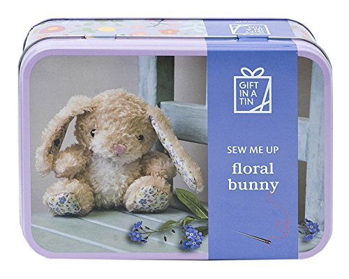 Apples to Pears Sew Me Up Floral Bunny Rabbit Sewing Kit In A Tin by Apples to Pears
