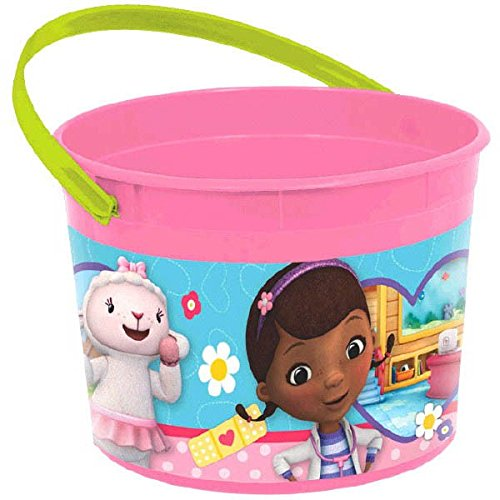 Doc McStuffins Birthday Party Favour Container (1 Piece), Pink/Blue, 4 1/2