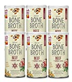 Honest Kitchen Beef Bone Broth - Natural Human Grade Functional Liquid Treat with Turmeric Spice for Dogs and Cats, 5 Ounce, 6 Count