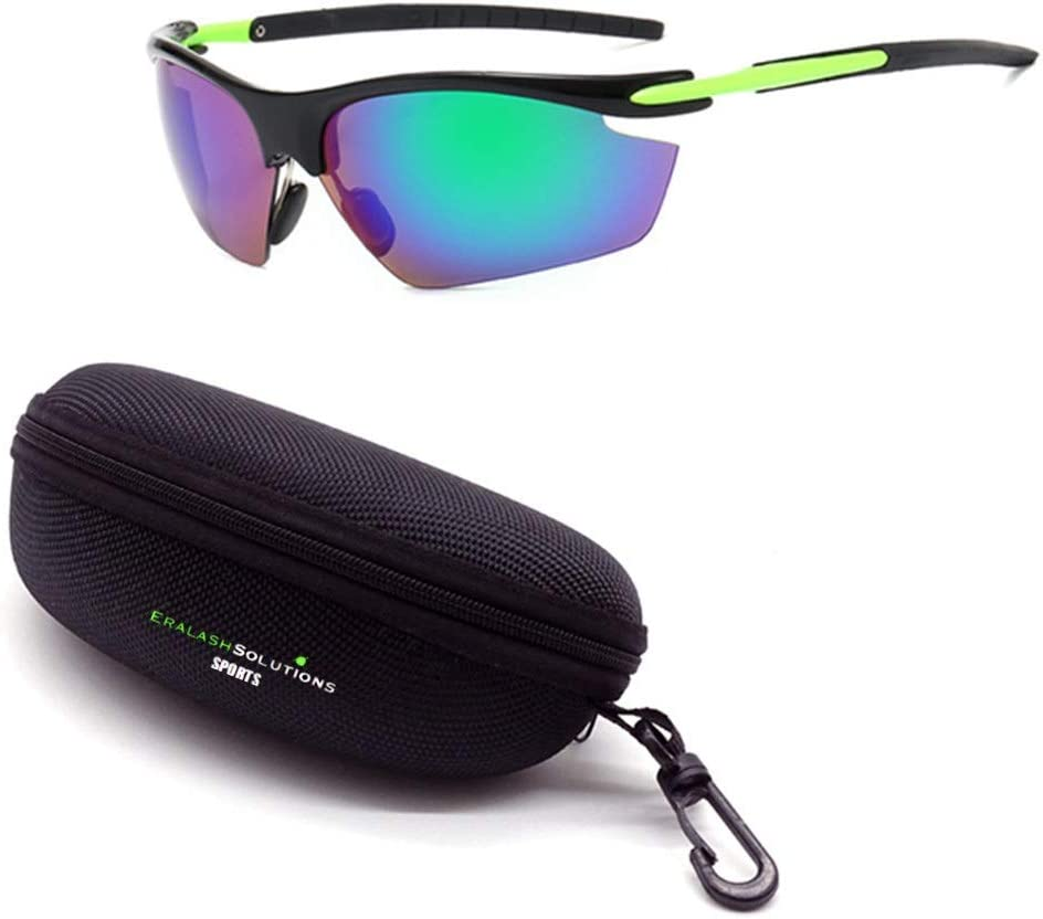 Eralash Polarized Sunglasses Ultraviolet Wind Proof Resistant with Myopic Frame & Case