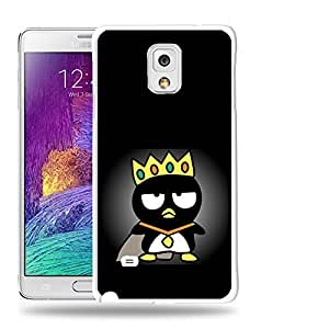 Case88 Designs Bad Badtz-Maru Collection King Bad Badtz-Maru Protective Snap-on Hard Back Case Cover for Samsung Galaxy Note 4