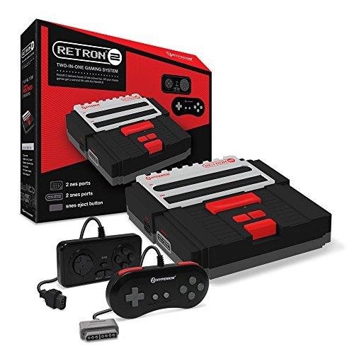 Hyperkin RetroN 2 Gaming Console for Super NES/ NES (Black)