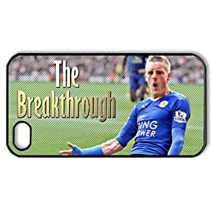 Generic hard plastic Jamie Vardy Cell Phone Case for iPhone 4 4S Black ABC8361173