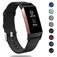 hooroor Canvas Woven Band Compatible for Fitbit Charge 3 Bands and Charge 3 SE Band, Soft Breathable Fabric Cloth Replacement Wristbands Strap Sports Accessories Small Large for Women Men