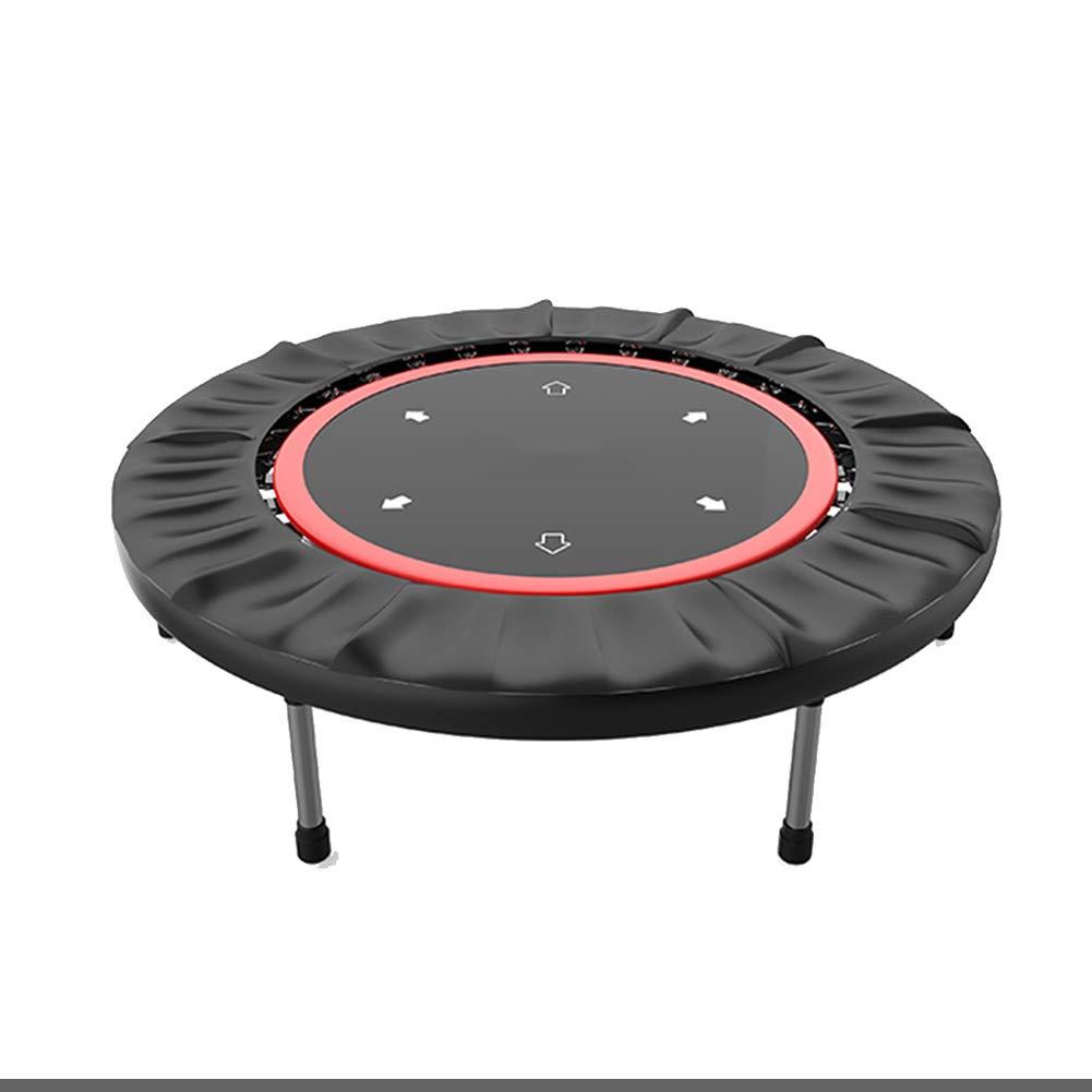 40 Zoll Folding Trampoline Mini Übung, für Indoor Garden Workout Cardio Training, Sicherheit Fitnessgeräte rot