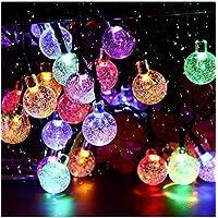 Solar Garden Lights Outdoor Waterproof, 50LED Globe Fairy Lights , 8 Mode 7M/24Ft Indoor/Outdoor Solar String Lights for…
