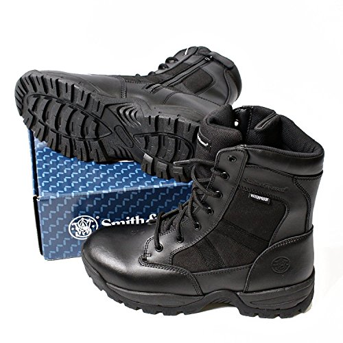 Smith & Wesson Footwear Men's Breach 2.0 Tactical Size Zip Boots, Black, 11