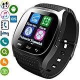 Fashionlive Smart Watch Touch Screen Anti-Lost Camera Remote Pedometer Fitness Tracker Wristwatch Phone Compatible with Android iOS System Samsung LG HTC iphone 8 7 6S