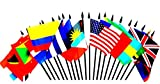 CARIBBEAN ISLANDS WORLD FLAG SET--20 Polyester 4''x6'' Flags, One Flag for Each Country in the Caribbean Islands, 4x6 Miniature Desk & Table Flags, Small Mini Stick Flags