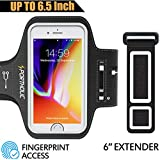 PORTHOLIC Armband for Large Phone - iPhone Xs Max XR iPhone 8 Plus 7 Plus 6s/6 Plus in Otterbox Defender Case, Samsung Galaxy S9 + S8 Plus Note 8 3 4 5 LG G6, Exercise Running Pouch Phone Holder