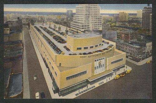 (Port Authority Bus Terminal Facing West New York City NY postcard 1930s)