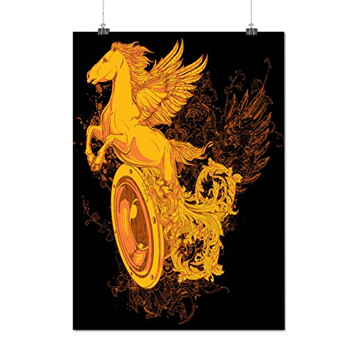 Pegasus Freedom Music Mythical Matte/Glossy Poster A4 (9x12 inches) | Wellcoda